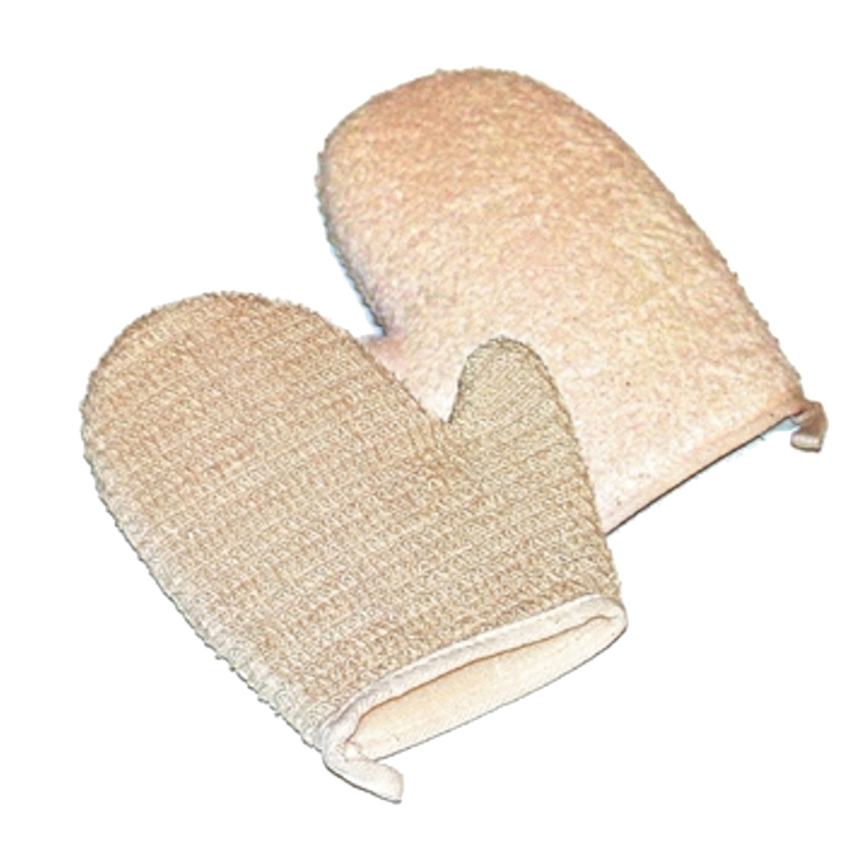 Gant de massage 2 faces sisal-coton
