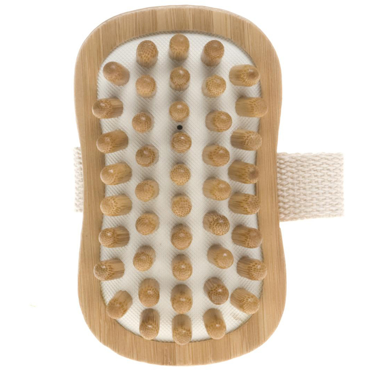 Brosse de massage corps bambou
