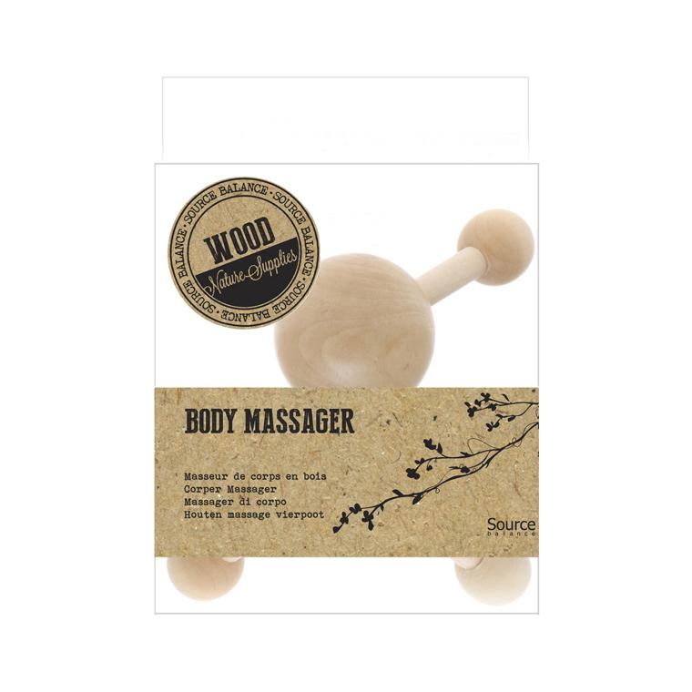 Quadripode de massage en bois