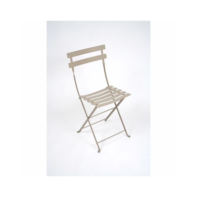 Chaise de jardin pliante en métal Bistro FERMOB muscade