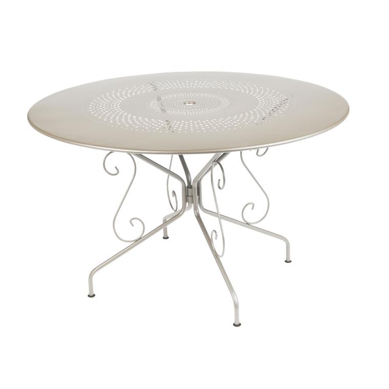 Table de jardin ronde Montmartre Fermob muscade D 117 cm