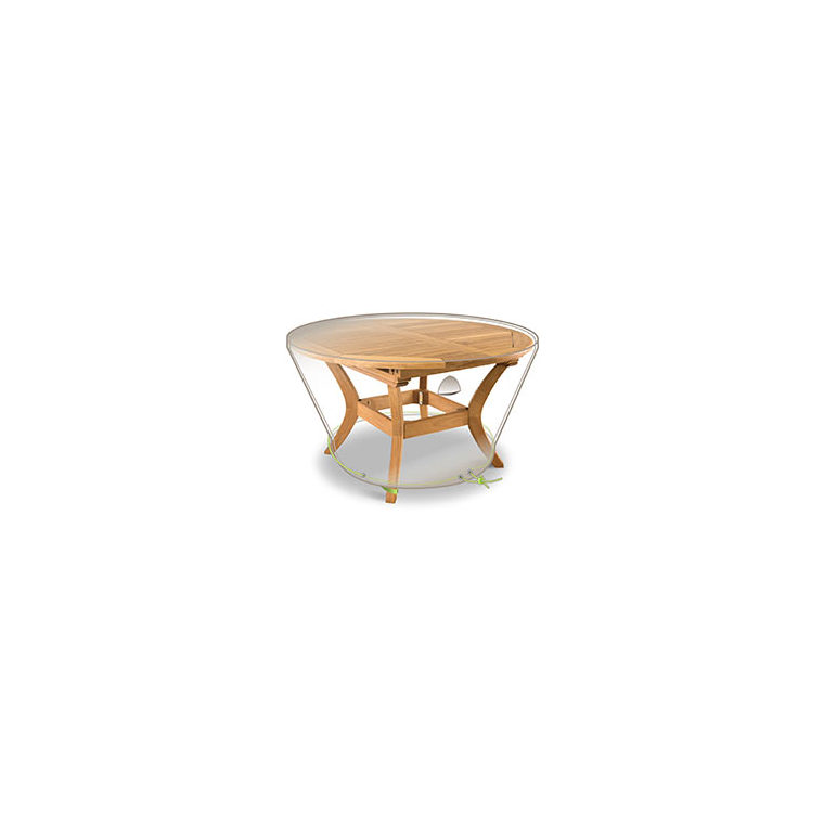 Housse protection table de jardin ronde 6 personnes botanic for Table ronde 6 personnes