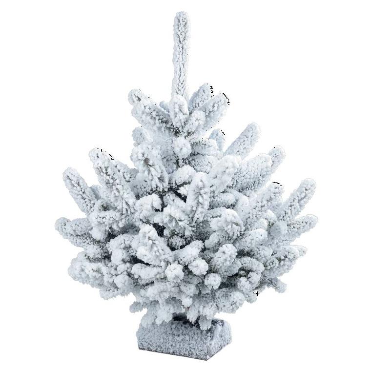 Sapin floqu blanc 90 110 cm sapins naturels autres - Sapin de noel floque ...