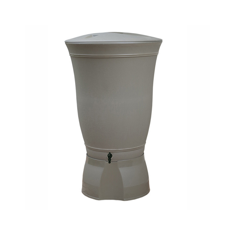 Récupérateur à eau Floral 300 litres taupe