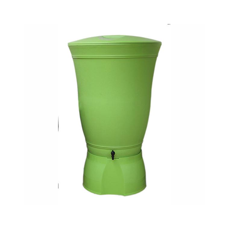 Récupérateur à eau Floral 300 litres vert Anis