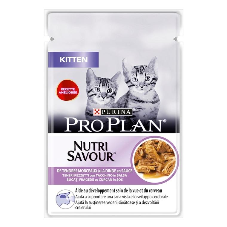 Pâtée pour chat junior à la dinde Pro plan 85 g