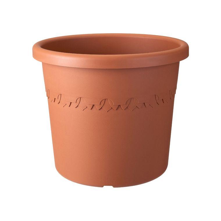 Elho Algarve Cilindro 21 Ext/érieur /Ø 21 x H 17.6 cm Pot De Fleurs Terre Cuite