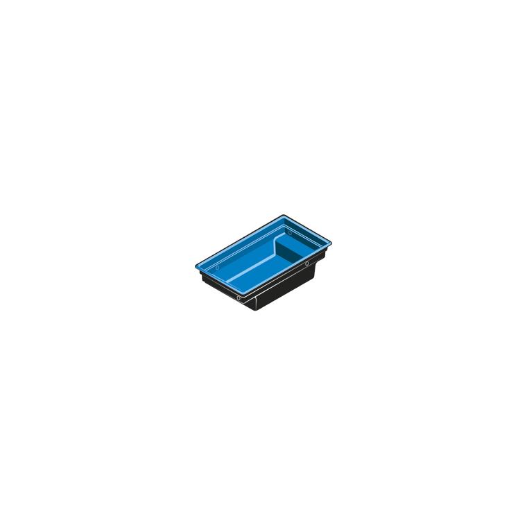 Bassin modulable noir Quadra C1 – 0,92 m2