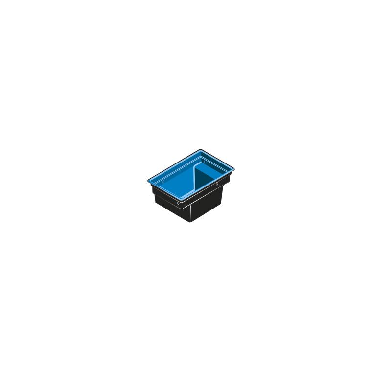 Bassin modulable noir Quadra C2 – 2,66 m2