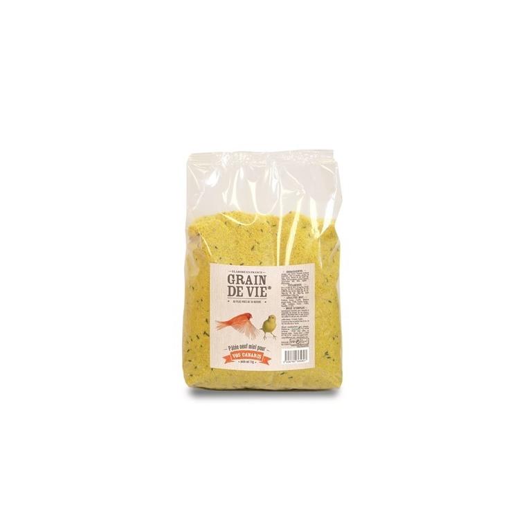 Pâtée élevage aux œufs et aux miel pour canari 1kg
