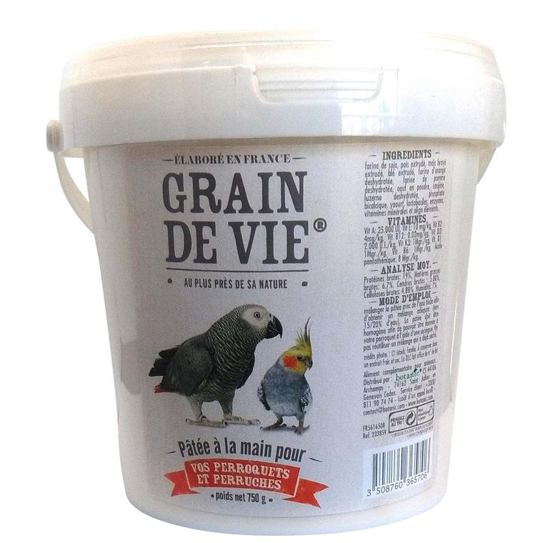 Pâtée élevage main perroquet + perruche 750 g