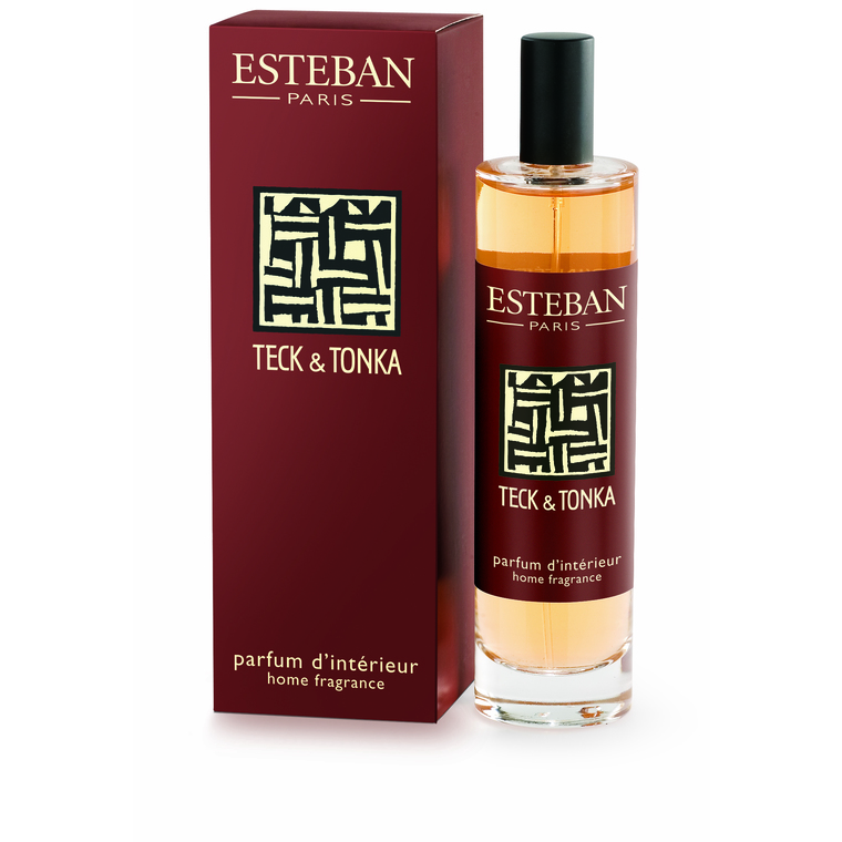parfum d 39 int rieur teck tonka esteban 100 ml botanic. Black Bedroom Furniture Sets. Home Design Ideas