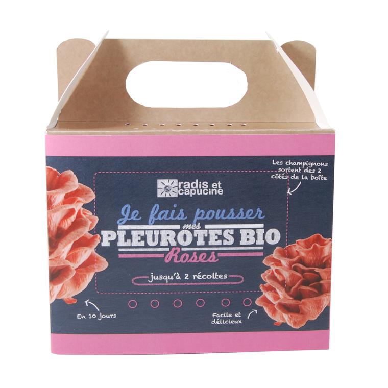 Kit de culture pour champignons pleurotes roses bio 25x20x15 cm