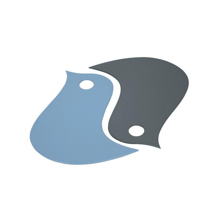Dessous de plat oiseau bleu gris