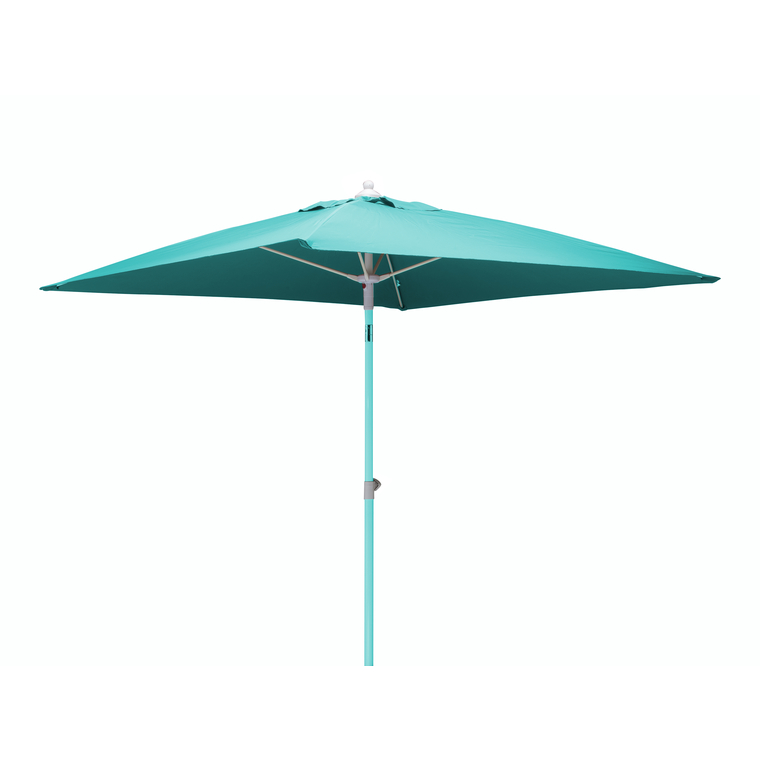 parasol carr bleu 2 m m t t lescopique botanic. Black Bedroom Furniture Sets. Home Design Ideas