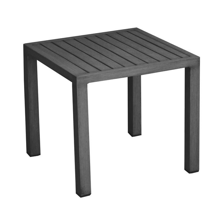 Table basse de jardin gris sable en aluminium LOU