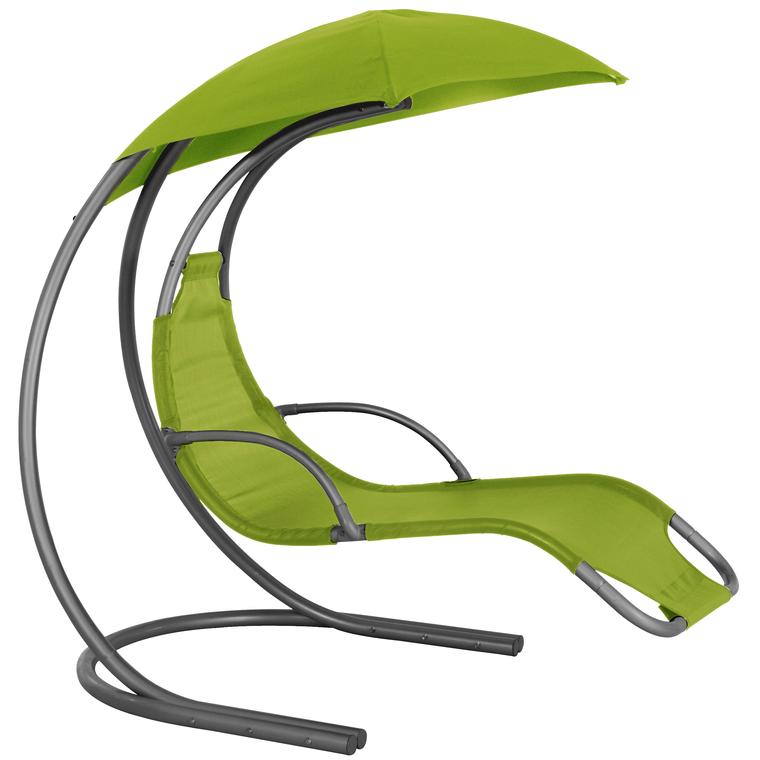 Chaise suspendue zen avec accoudoirs et parasol botanic for Chaise suspendue