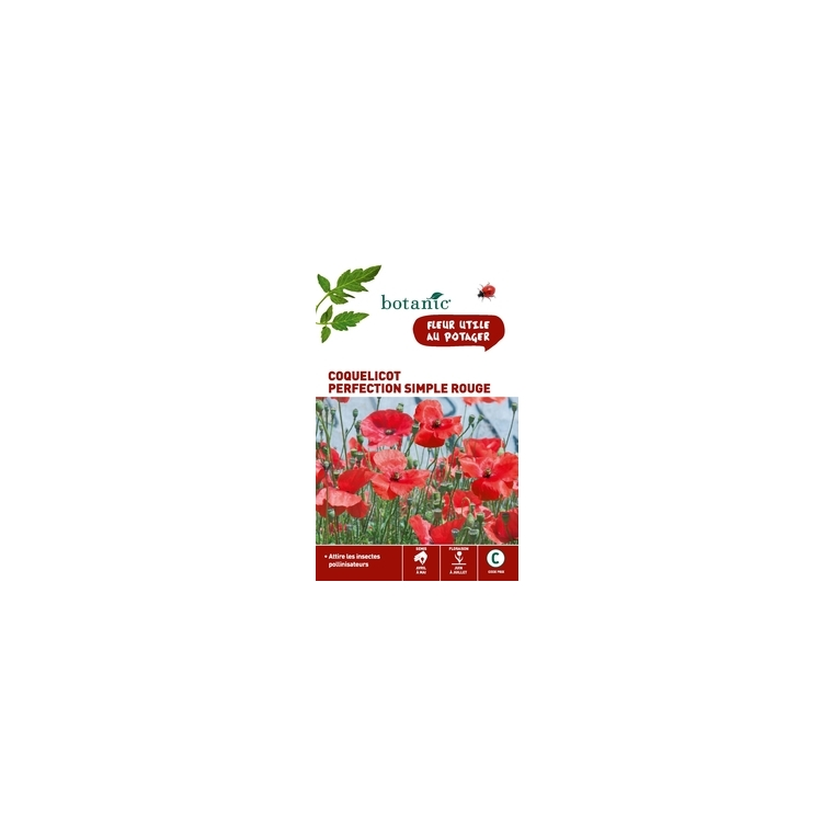 Coquelicot perfection simple rouge x 2 sachets