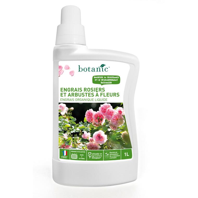 Engrais rosiers et arbustes à fleurs liquide 1L