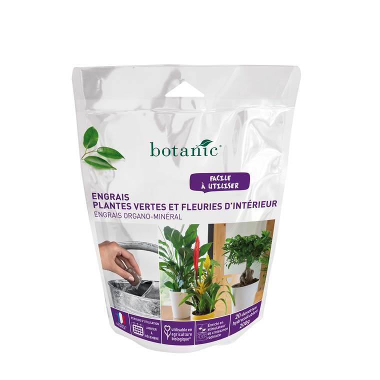 Engrais plantes vertes fleuries d 39 int rieur 20x10g botanic for Soldes plantes vertes