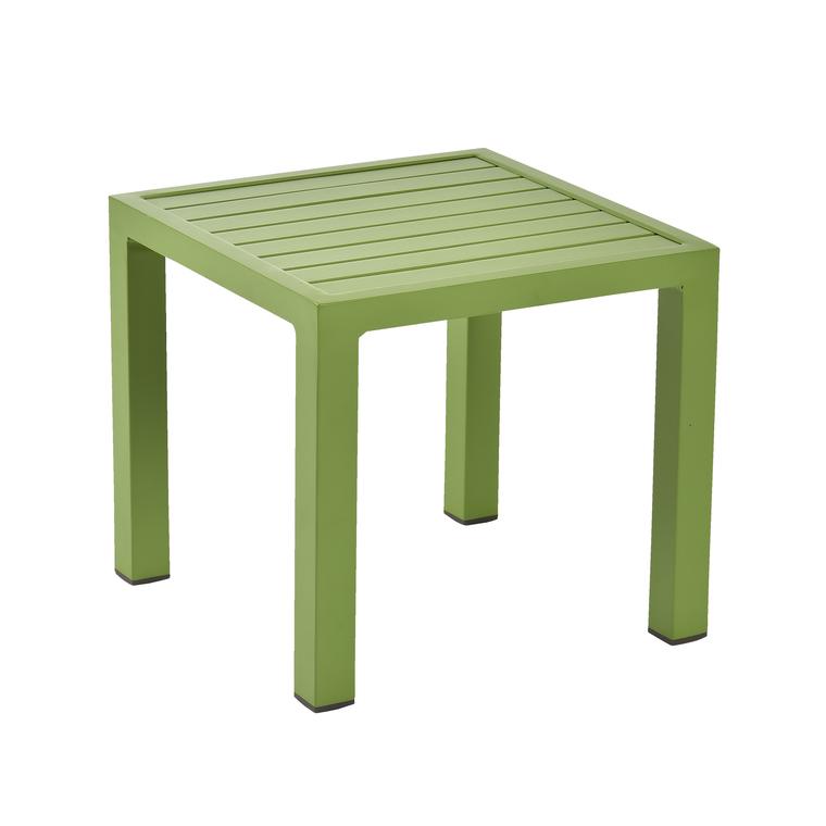 Table basse de jardin mousse en aluminium LOU