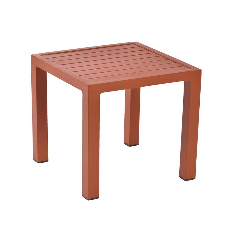 Table basse de jardin paprika en aluminium LOU
