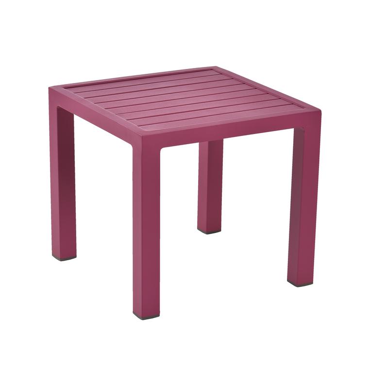 Table basse de jardin fuchsia en aluminium LOU