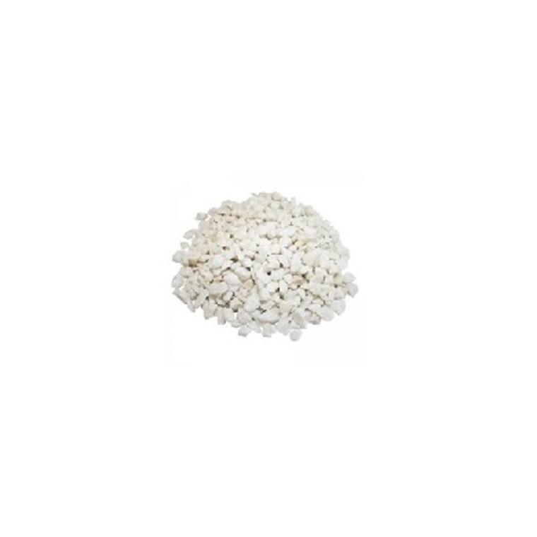 Concassé de marbre blanc pur de Carrare 8/12 en sac de 25 kg