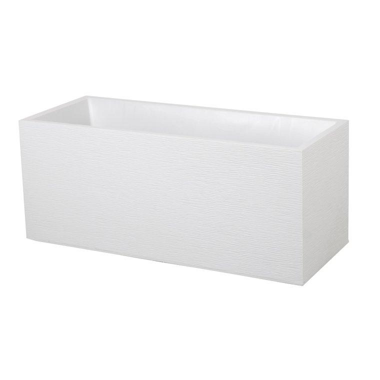 Bac GRAPHIT blanc cérusé L.100 x l.40 x H.40 cm