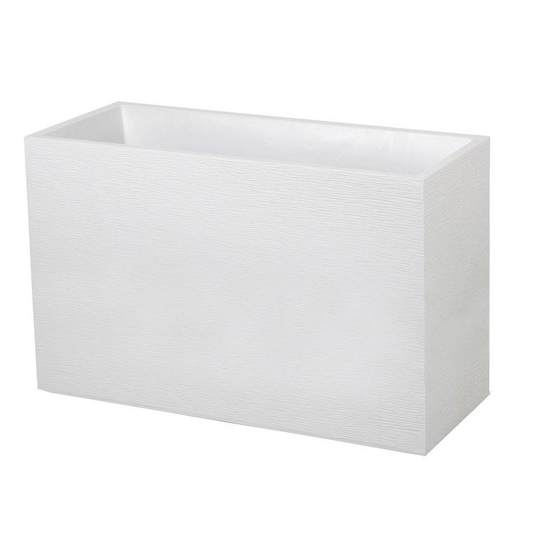 Muret GRAPHIT blanc cérusé L.100 x l.40 x H.60 cm