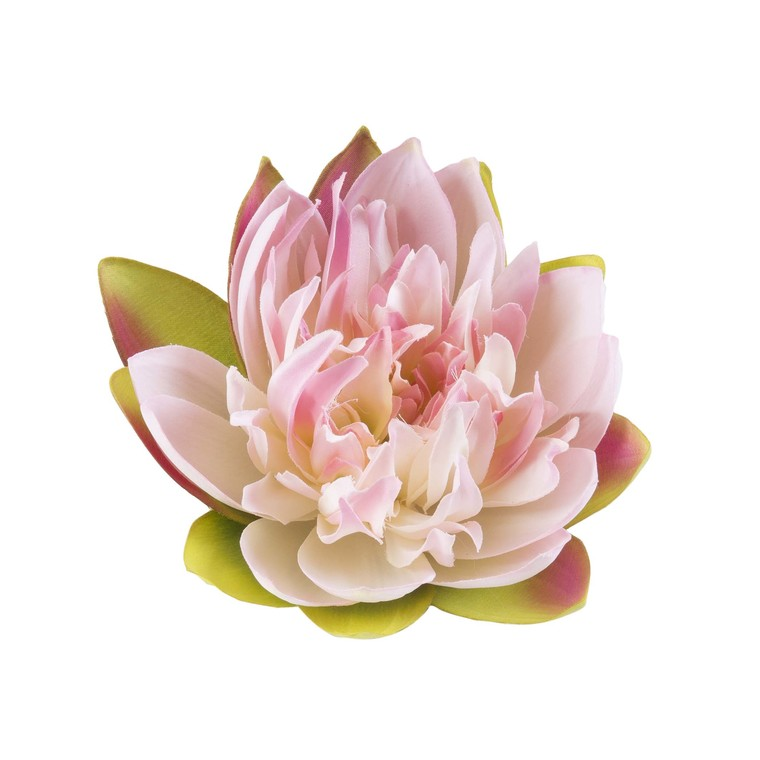 Fleur de lotus rose artificielle flottante – 17 cm