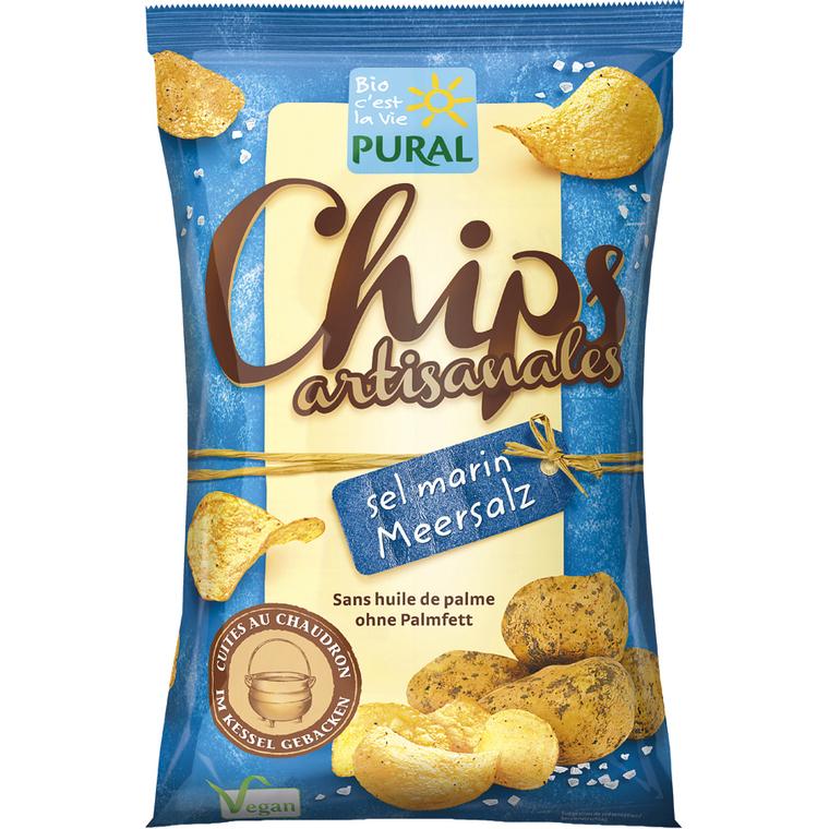 Chips artisanales au sel marin – 125 gr