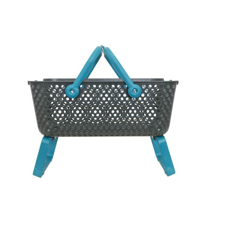 Panier Kajo 15L – gris et turquoise