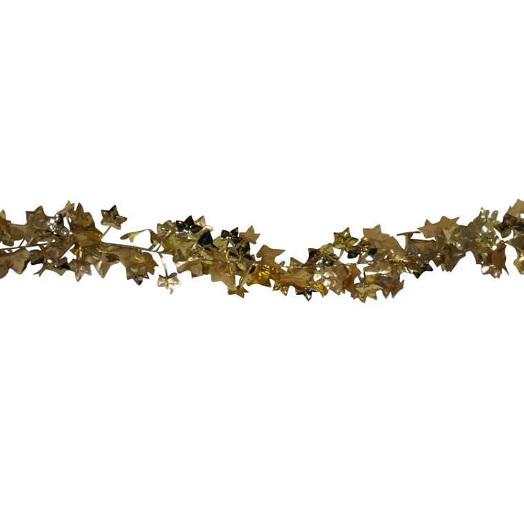 Guirlande dorée avec feuilles
