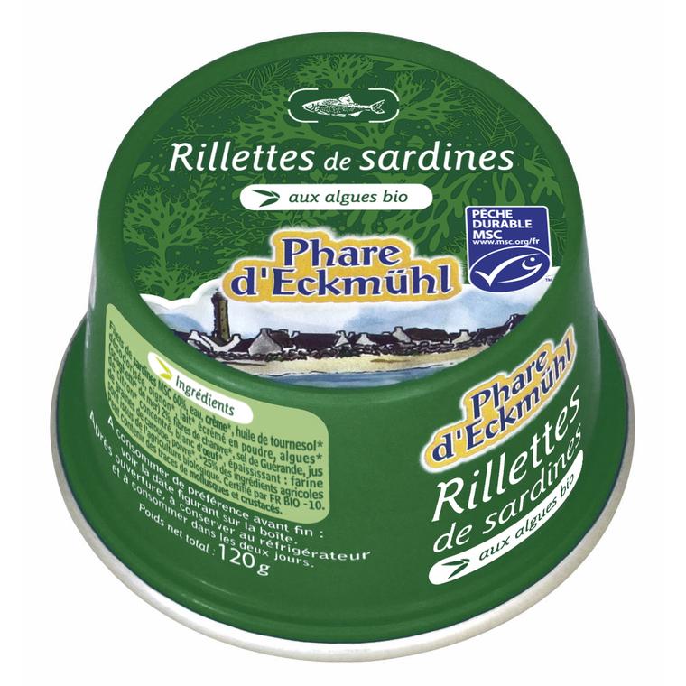Rillettes de sardines aux algues bios - 120 gr