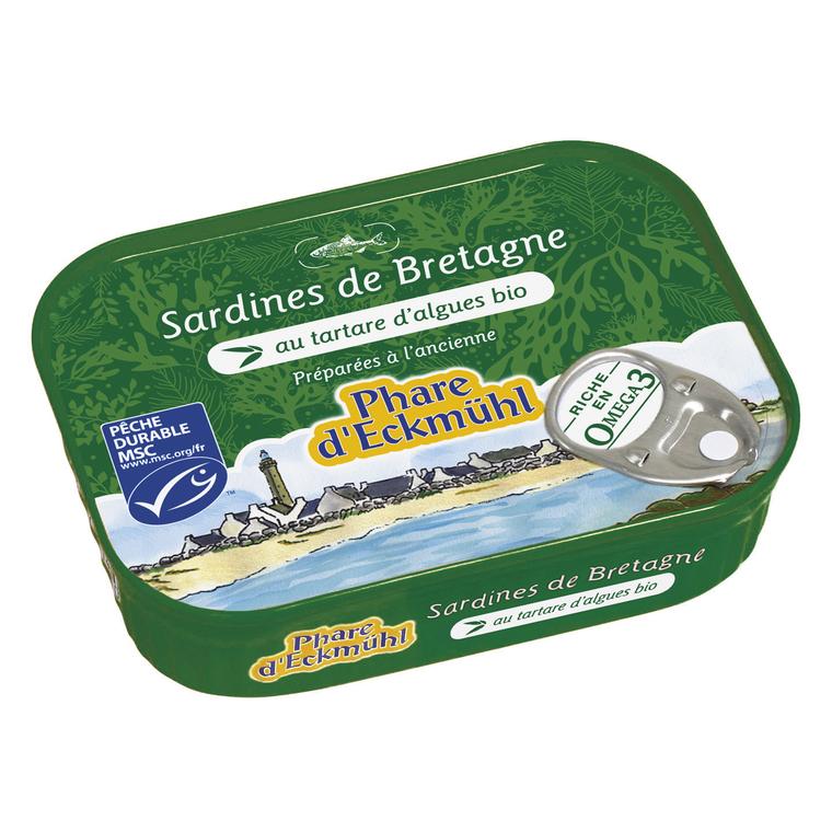 Sardines au tartare d'algues 135 g PHARE D'ECKMÜHL