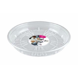 Uni soucoupe ronde Transparent L25 x H3,6 cm