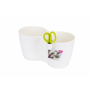 Pot aromatique Brussels herbes duo large Elho blanc