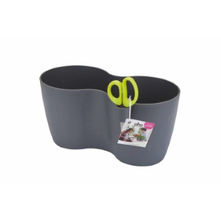Pot aromatique Brussels herbes duo large Elho anthracite