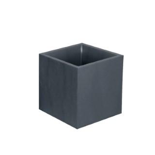 Pot carré Volcania anthracite 40 cm x 40 cm x 40 cm