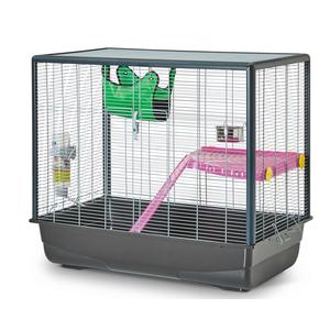 Cage Zeno 2 Pliable Gris 80x50x70 cm 204887