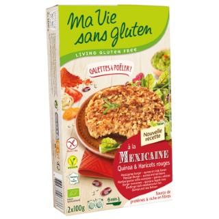 Galettes à poêler quinoa et haricots rouges 200 g MA VIE SANS GLUTEN 207484