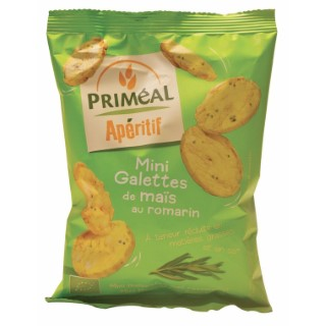 Mini galettes de maïs au romarin 50 g PRIMEAL