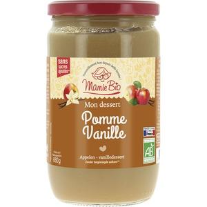 Purée de pomme-vanille bio 680 g MAMIE BIO