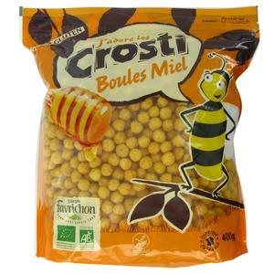 Céréales Crosti Boules Miel sans gluten - 400 gr 211680