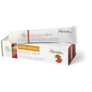 Duo dentifrice enfant Melvita 2 x 75 ml