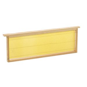 Cadre garni de cire gaufrée pour hausse de ruche 47x16x2,5