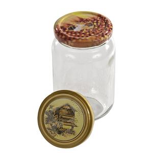 Pot en verre 500 g avec capsule x10 214778