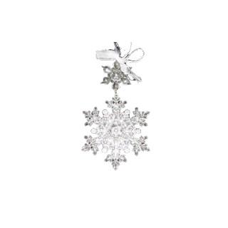 Flocon de neige transparent 9 cm