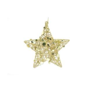 Étoile or à suspendre 12 cm